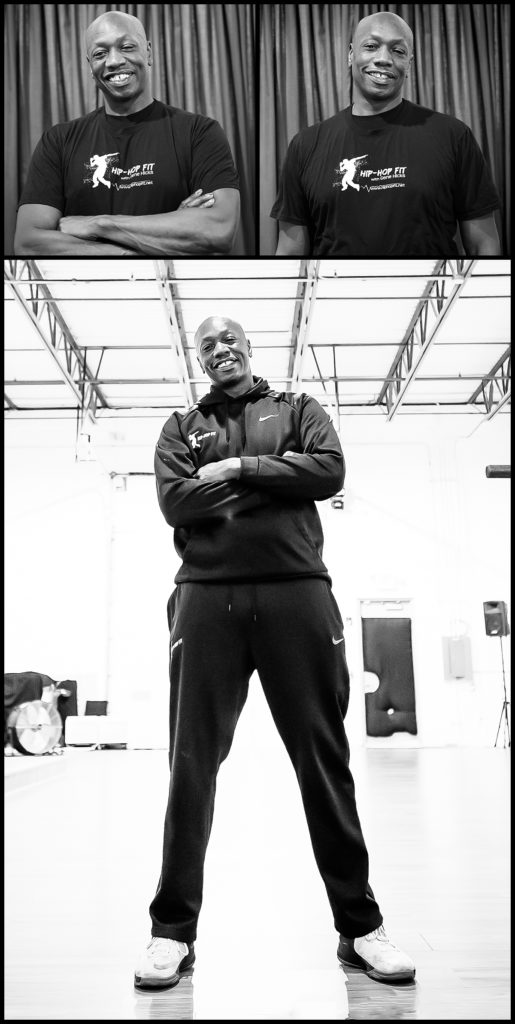 Fitness Instructor Gene Hicks represents his dance studio Hip Hop Fit